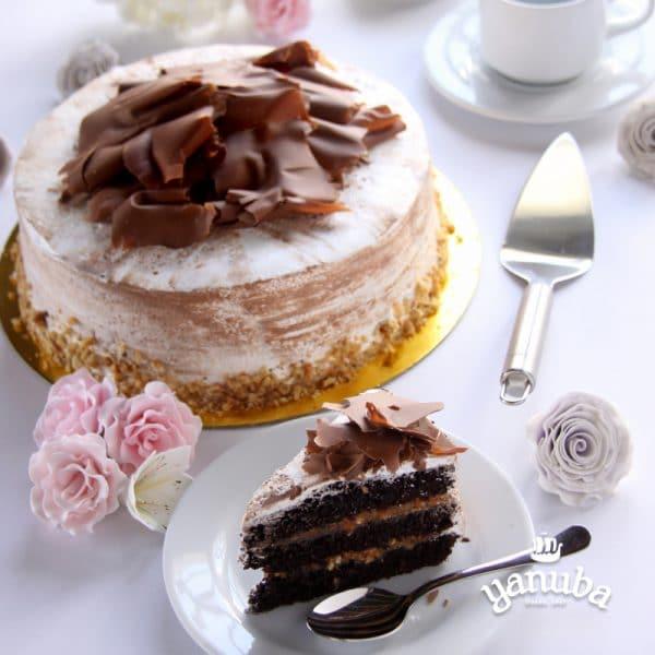 Torta Chocolate, Nueces Y Arequipe