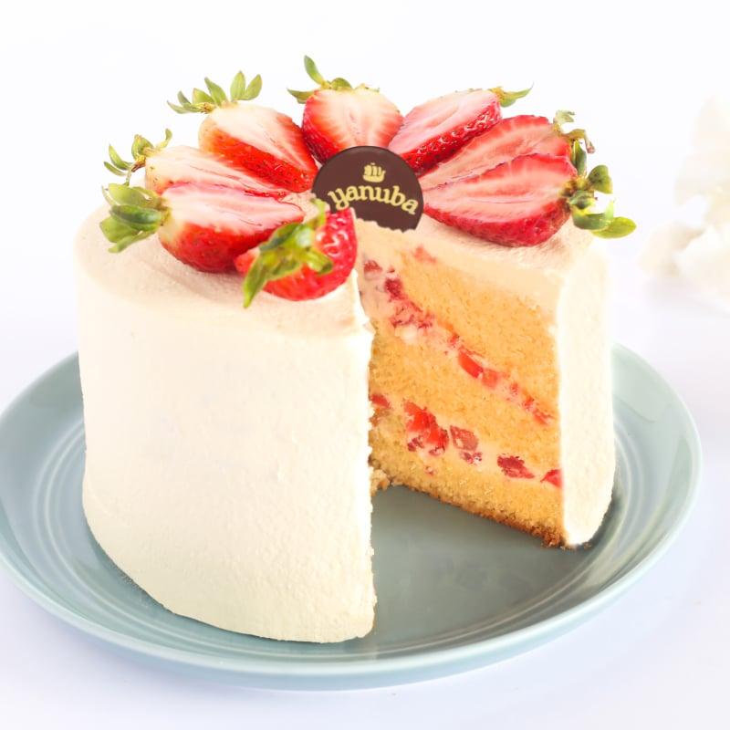 Torta de Fresa sin Azúcar